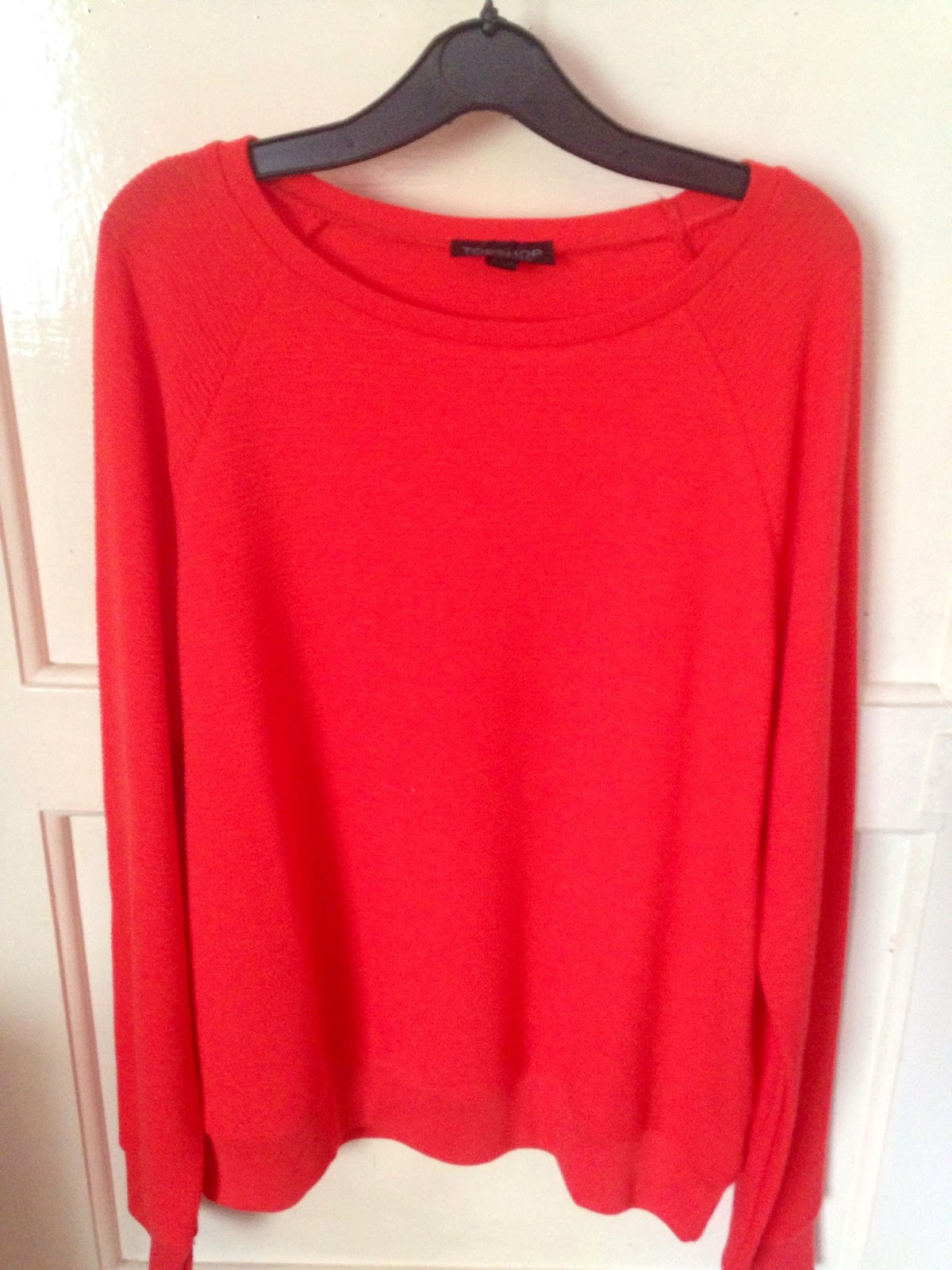 Topshop Neat Rib Sweat