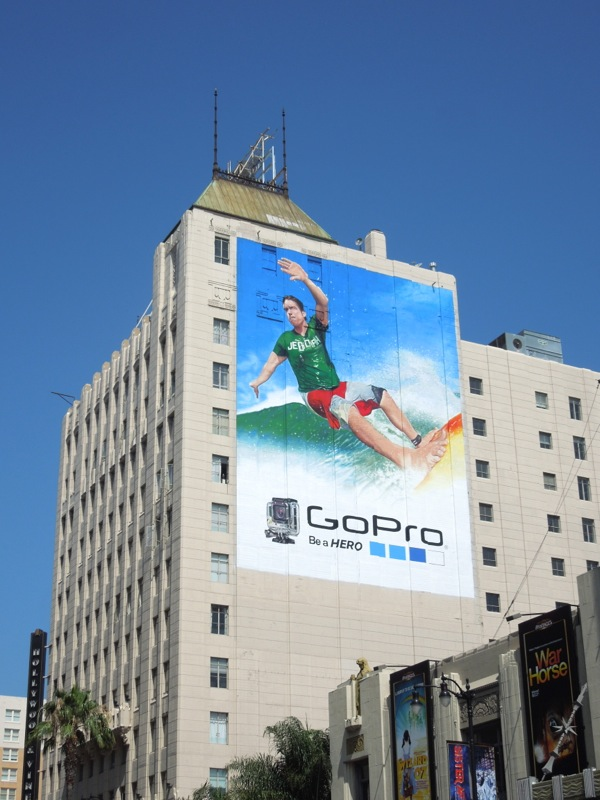 Giant GoPro surfer billboard