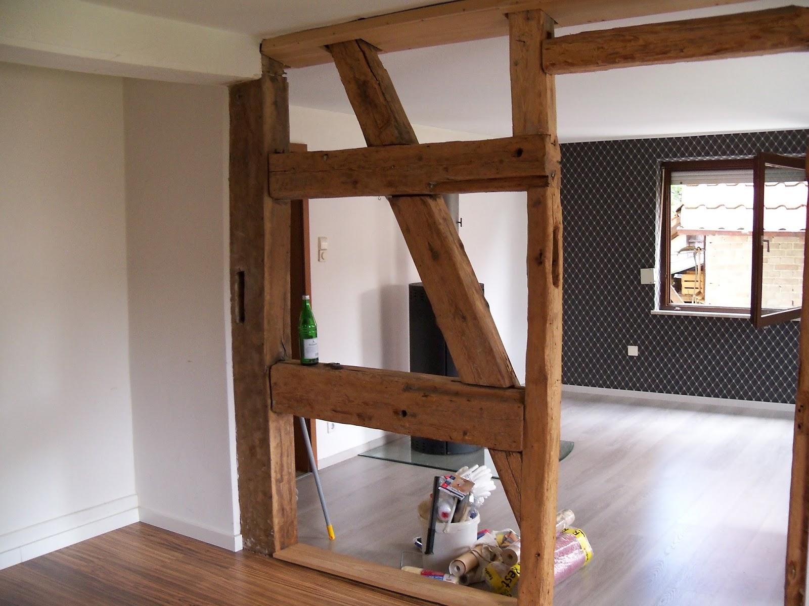 82 wohnzimmer gestalten fachwerk fachwerk raumteiler selber bauen landhaus shabby chic. Black Bedroom Furniture Sets. Home Design Ideas