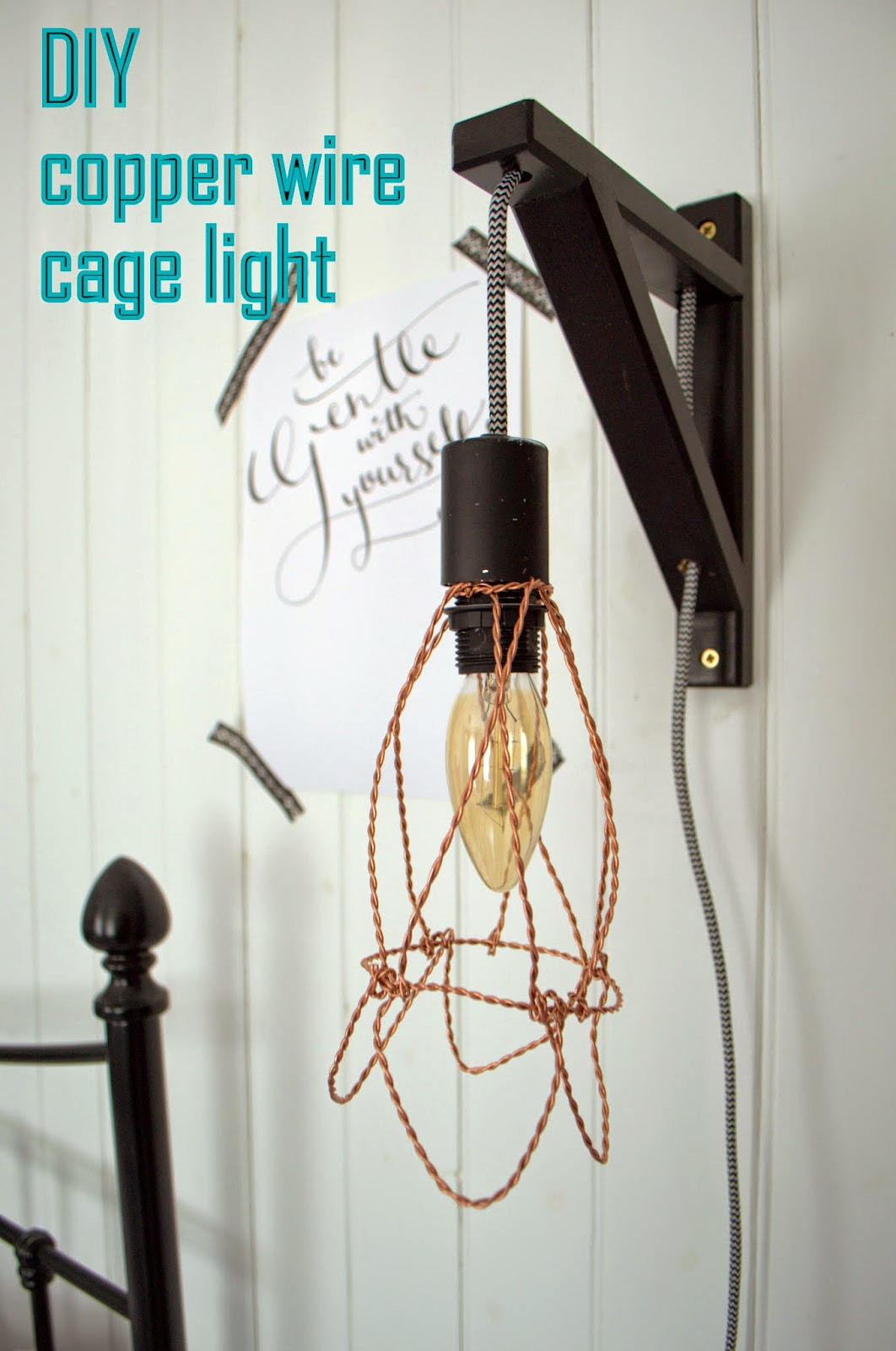 nostalgiecat: Diy wire cage light tutorial