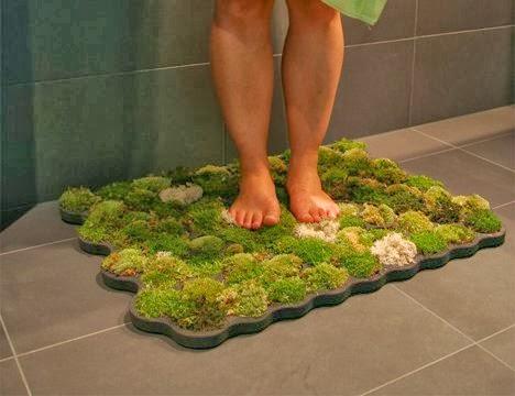 A Moss Bathmat. Moss Bath Mat   Home Decoration