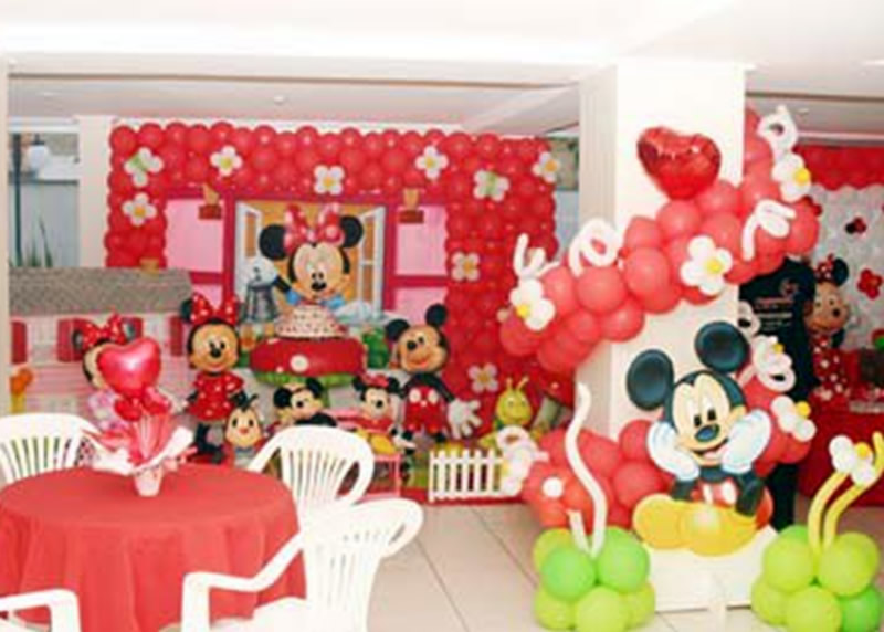 Fiesta Temática con Globos de Minnie Mouse - Birthday Party : Fiestas
