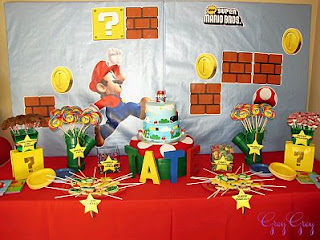 Mario Bros, children party decoration ideas