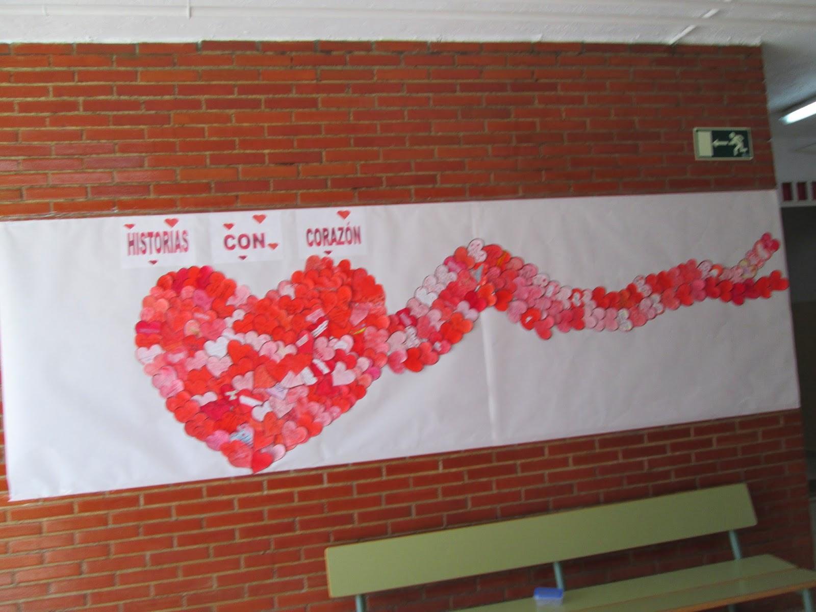 Periodico mural kinder a san valentin m 225 s de 25 - Decoracion de san valentin ...