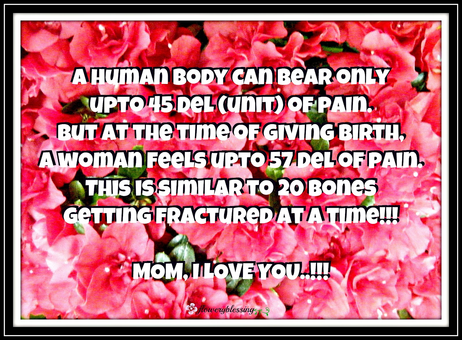 Flowery Blessing: A human body can bear only upto 45 Del (unit) of ...
