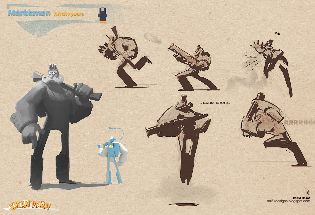 Game Character Design Website : Saiful haque stylized video game character design lotr