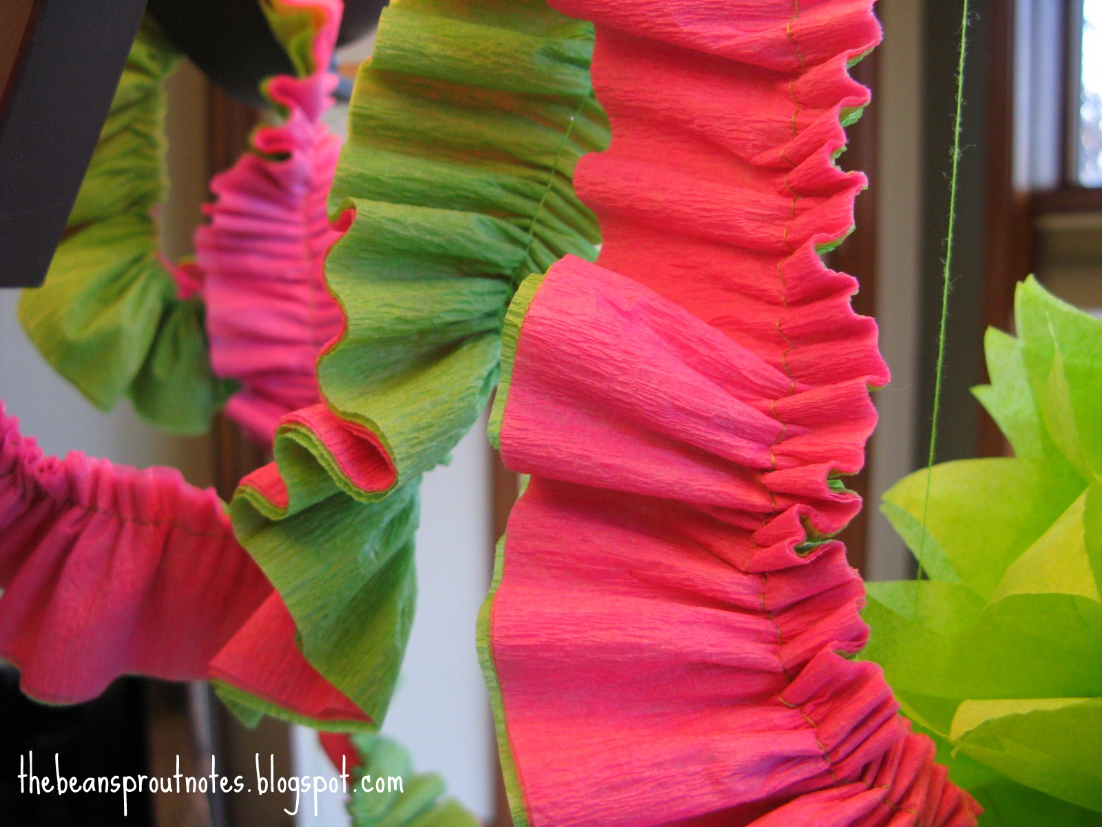 Crepe Paper Party Garland