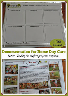 Developing a template for weekly planning in a home day care service by Mummy Musings and Mayhem