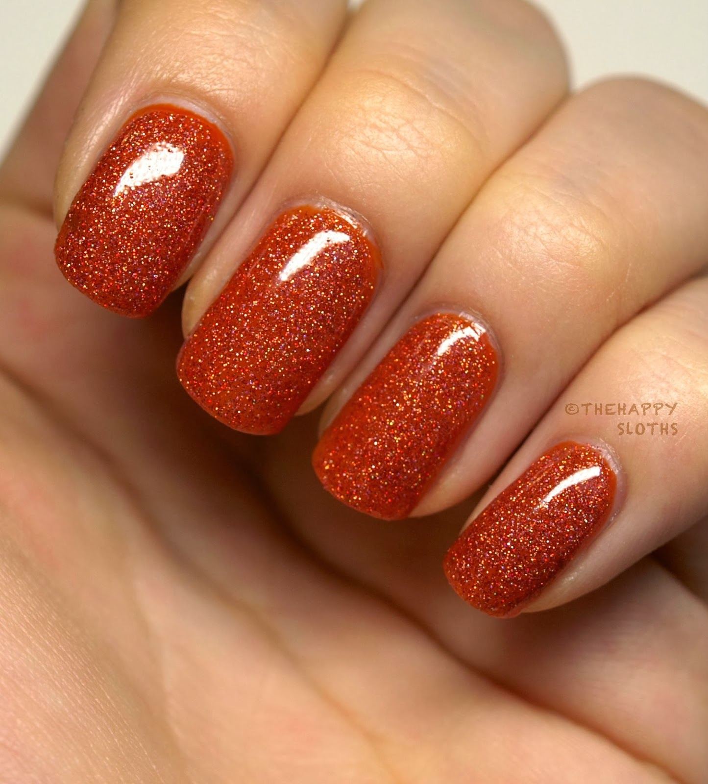 I Feel Like This Polish Is The Perfect Orange Counterpart Of Sparking Garbage From Orly Formula Was Super Easy To Work With And Glitters Sigh
