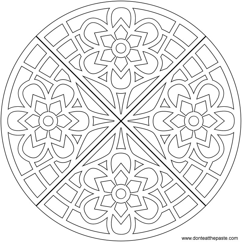 Waffle mandala coloring page- also available in transparent PNG format #coloring