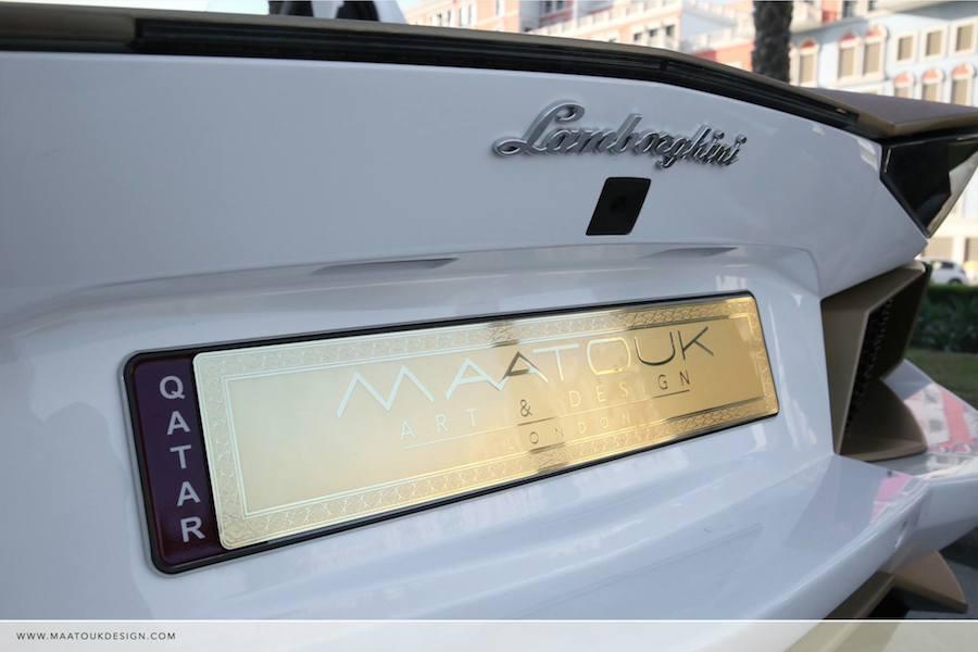 アラブの大富豪にマッチし過ぎなランボルギーニ・アヴェンタドールの純金カスタム