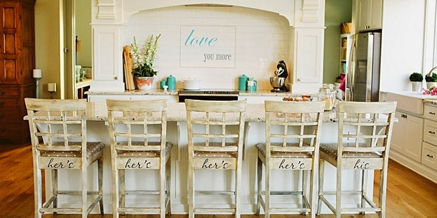 wystrój wnętrz, wnętrza, urządzanie mieszkania, dom, home decor, dekoracje, aranżacje, styl francuski, styl wiejski, biała kuchnia, wyspa kuchenna, miętowe dodatki