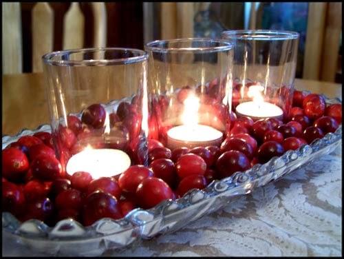 Beautiful bridal red winter wedding centerpieces