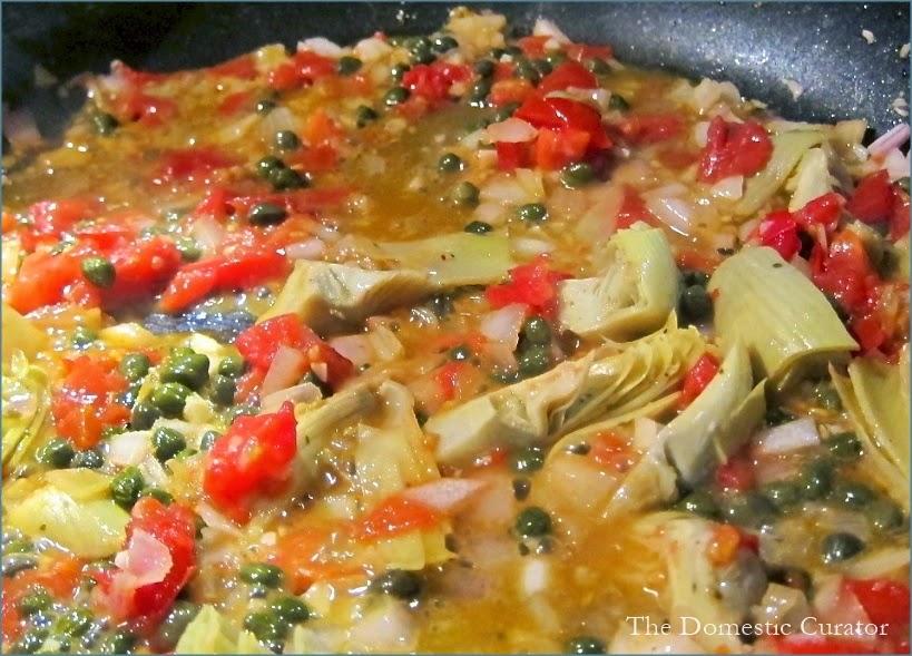 Chicken artichoke tomato sauce recipe