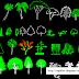 بلوكات أشجار زهور نخيل مزهريات  Bloc Autocad des arbustes en élévation dwg
