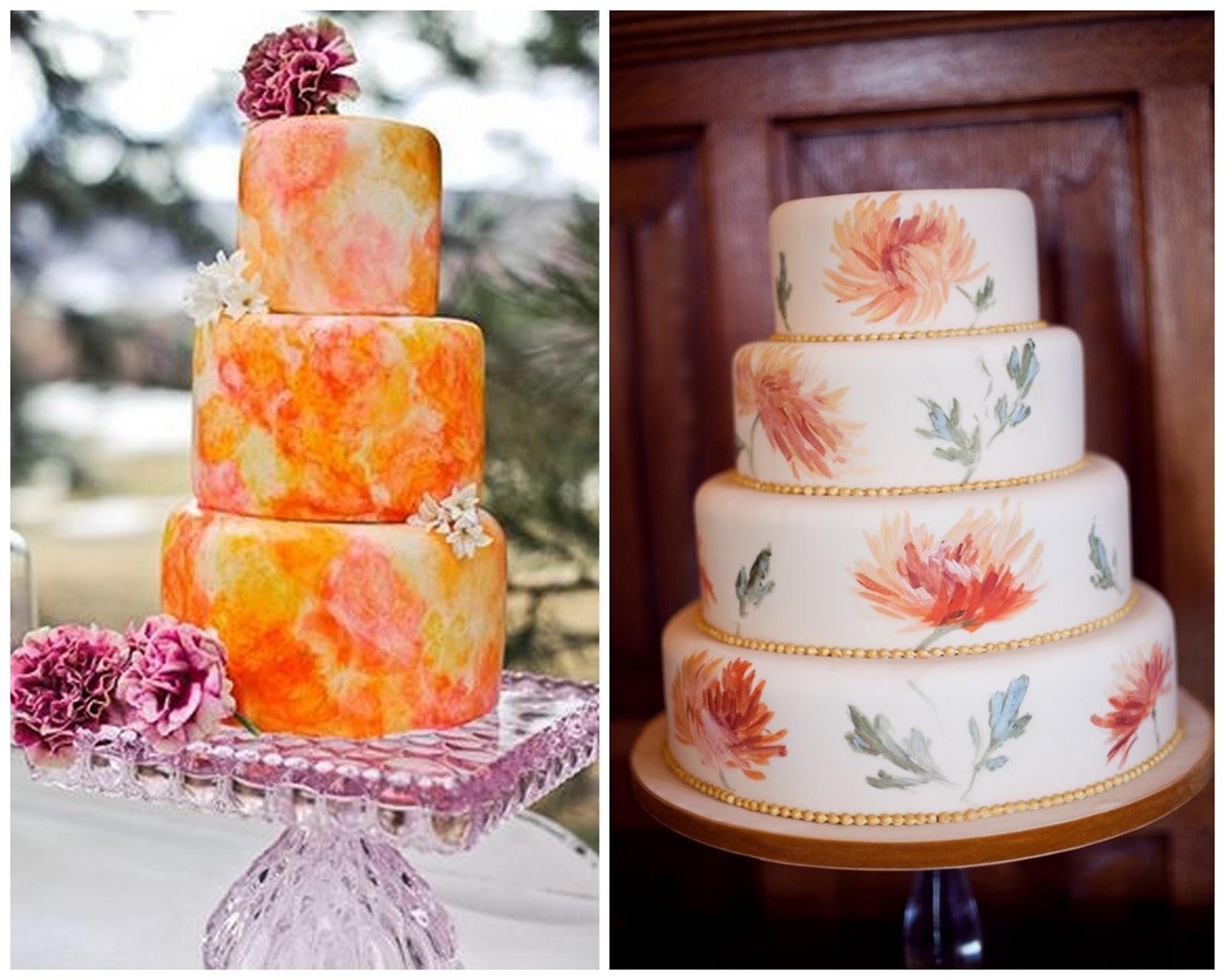 Свадебный торт с акварельной росписью. Рецепты и идеи 55