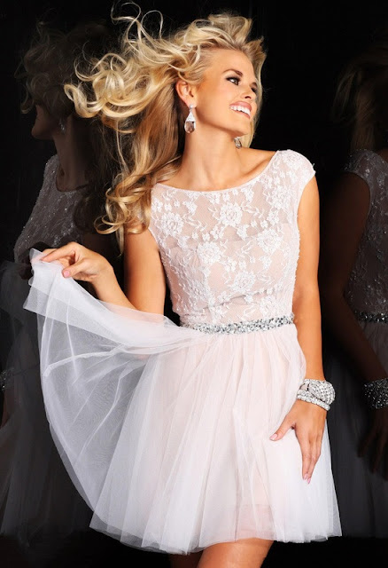 Ladylike Lace Prom Dress