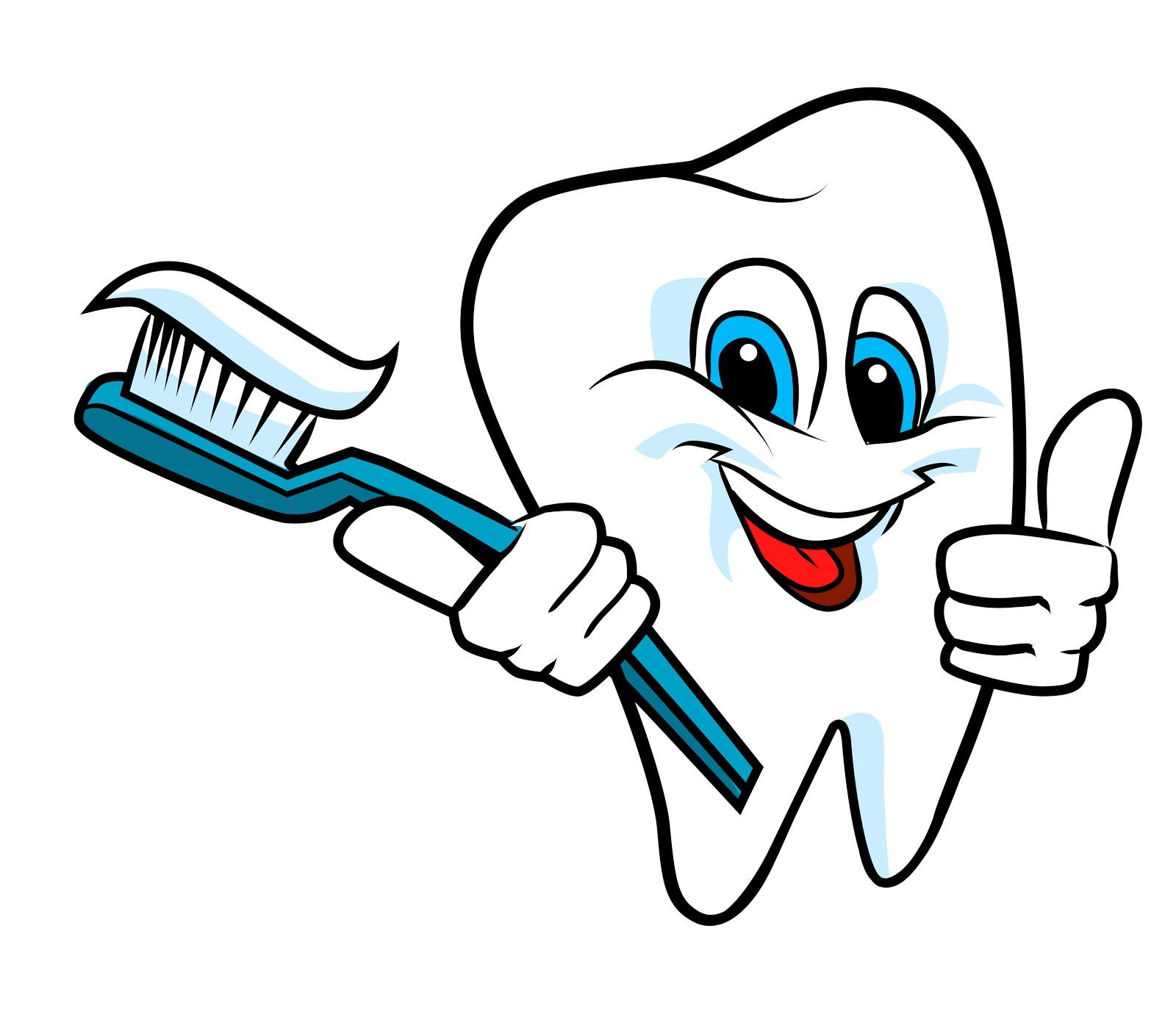 Clean teef or clean teeth Kid Toothbrush Clipart