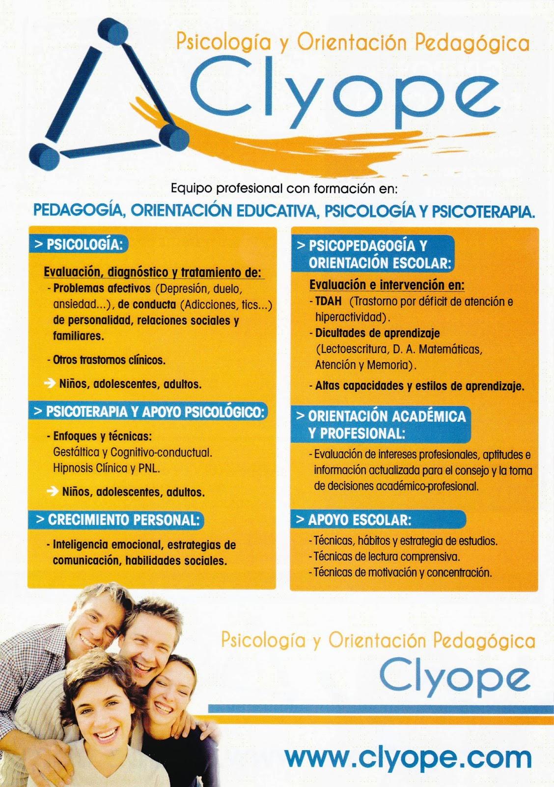 PEDAGOGÍA,ORIENTACIÓN EDUCATIVA, PSICOLOGÍA Y PSICOTERAPIA