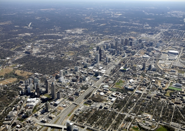2008 Aerial View Of Atlanta Image Via Ace Photography