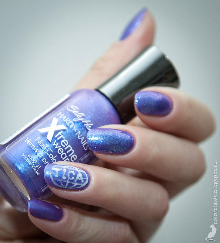 Sally Hansen Xtreme Wear #400 Virtual Violet + HD #15 DVD