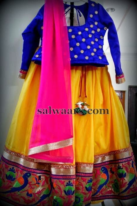 Yellow Skirt Pythani Border