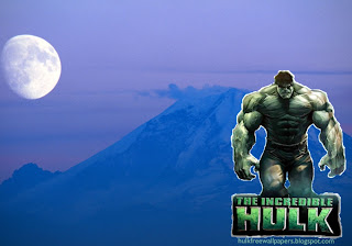 The Incredible Hulk Desktop Wallpapers Hulk The Movie in Moon Blue Mountain wallpaper
