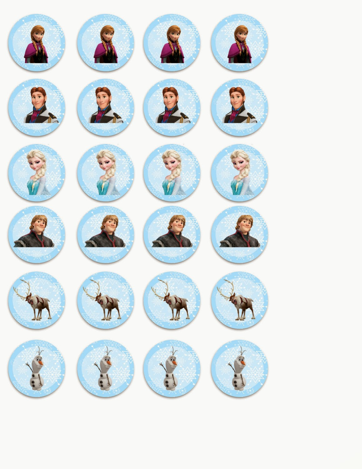 Printable Cake Toppers Frozen