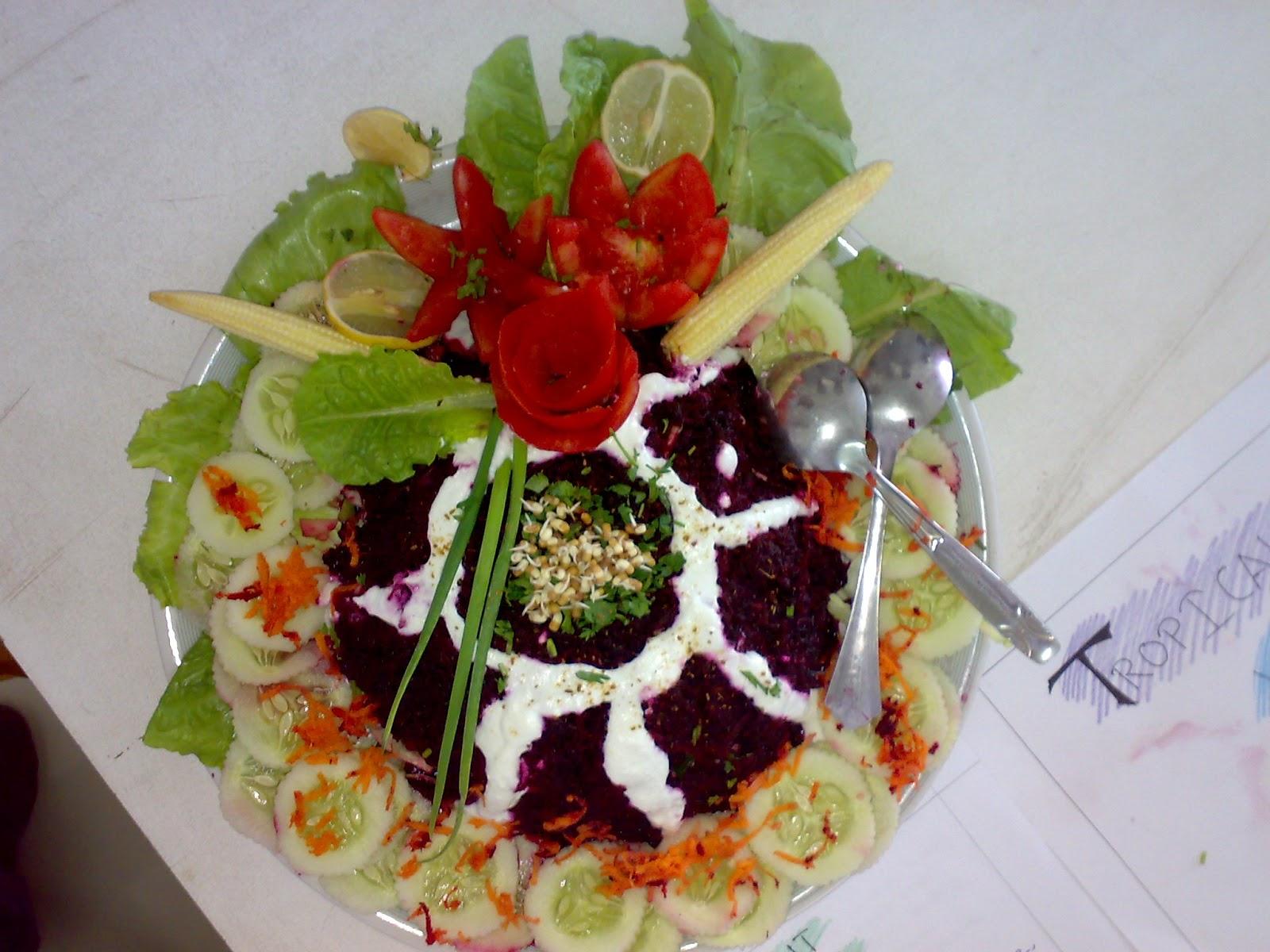 Unique art and craft platform salad competition for Decoration salade