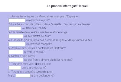 Le journal de fran ais les pronoms interrogatifs - Le journal de francois ...