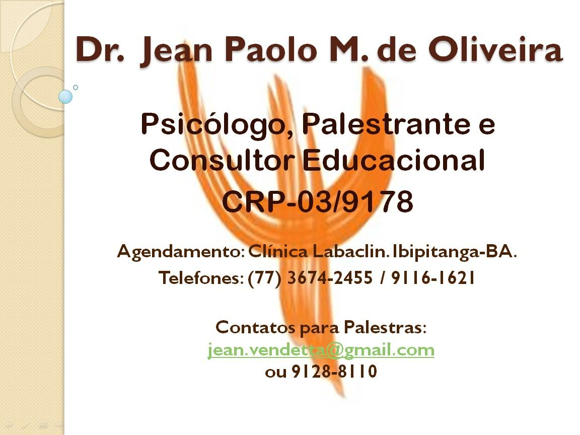 Psicólogo, Palestrante e Consultor Educacional