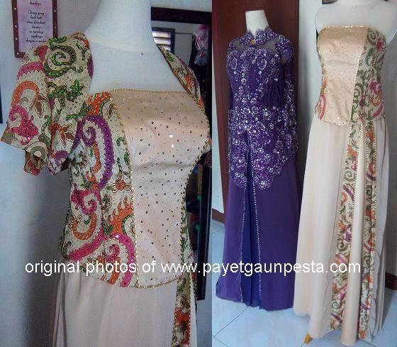 Payet Gaun Pesta | Desain Baju Pesta, Kebaya Modern dan ...