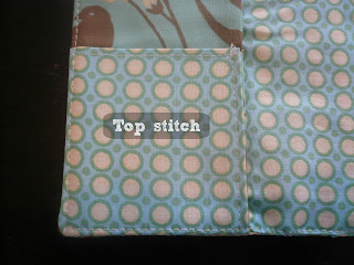 Top stitch edges