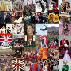 Collage Of British Royalty