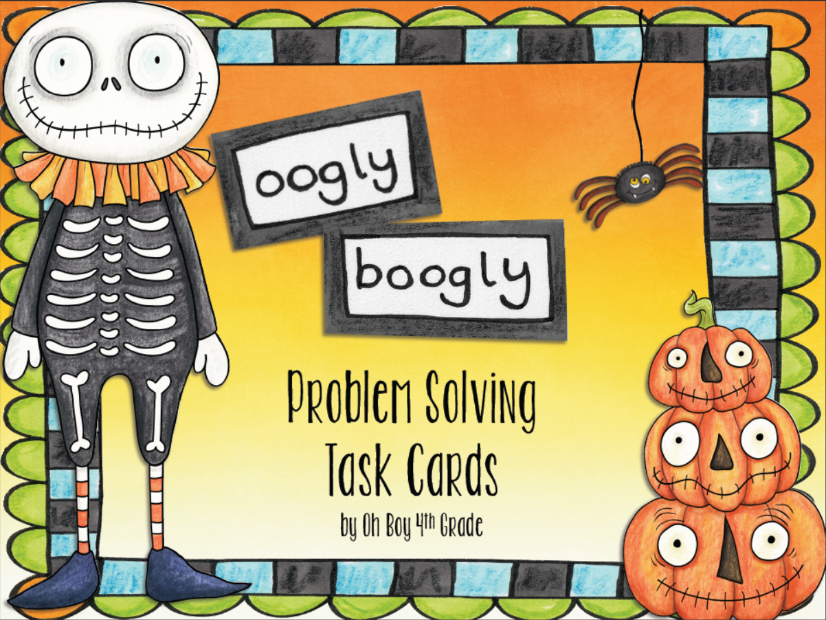 http://www.teacherspayteachers.com/Product/oOgLy-BoOgLy-Halloween-Task-Cards-Multistep-Problem-Solving-1494493