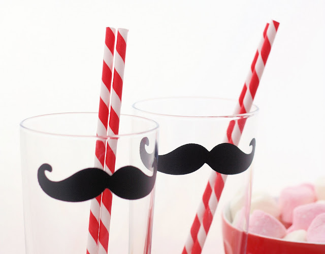 funny parties for kids: moustache glasses tutorial