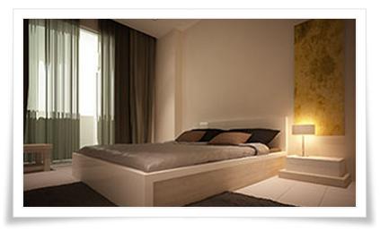 Phòng ngủ căn hộ Thuỷ Tiên Resort