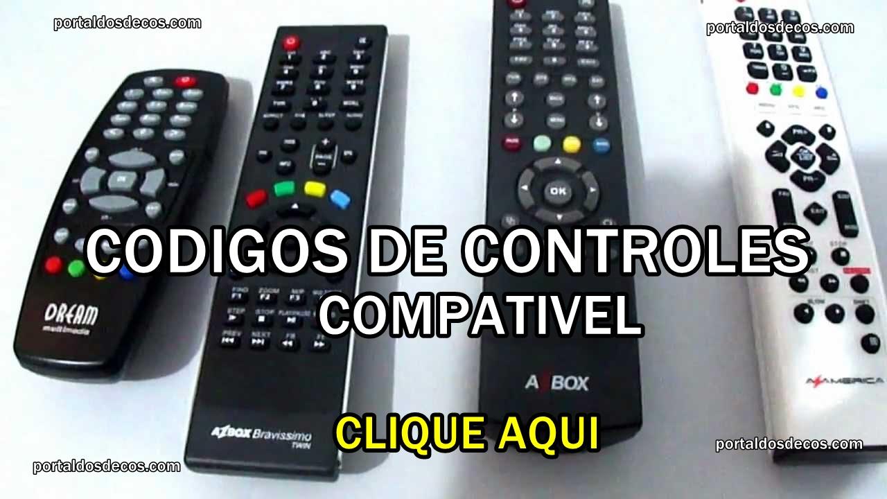CODIGOS CONTROLES COMPATIVEIS