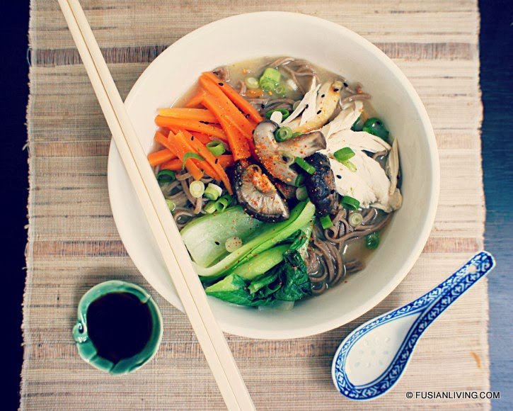 Japanese-style soba noodles in ginger miso soup recipe | Grow Your Own ...