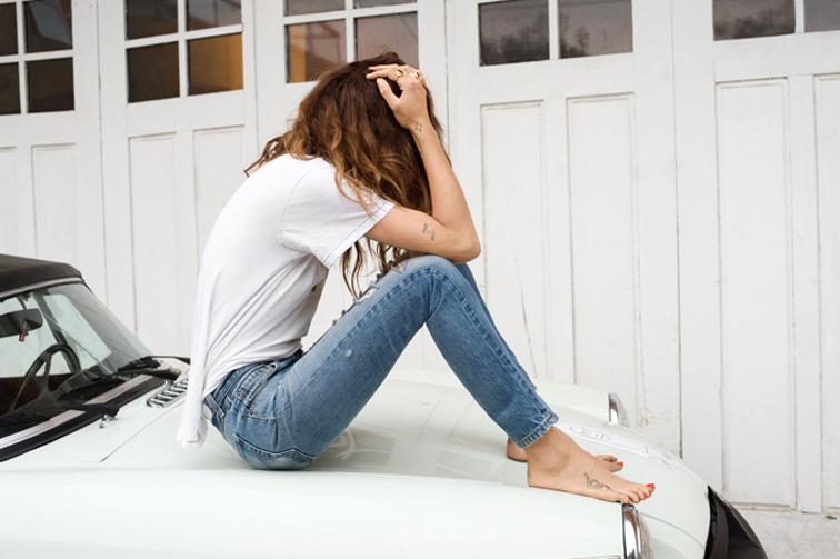 Re/Dun high ride jeans, Erin Wasson