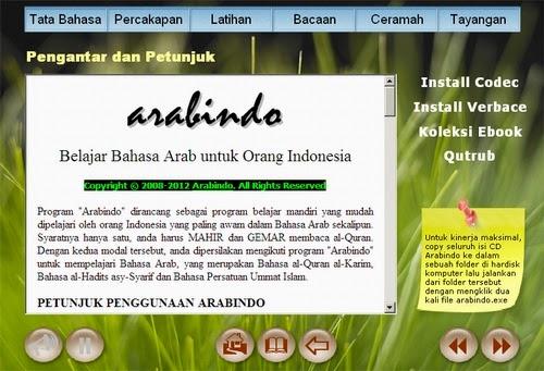 software arabindo belajar bahasa arab untuk orang indonesia adalah