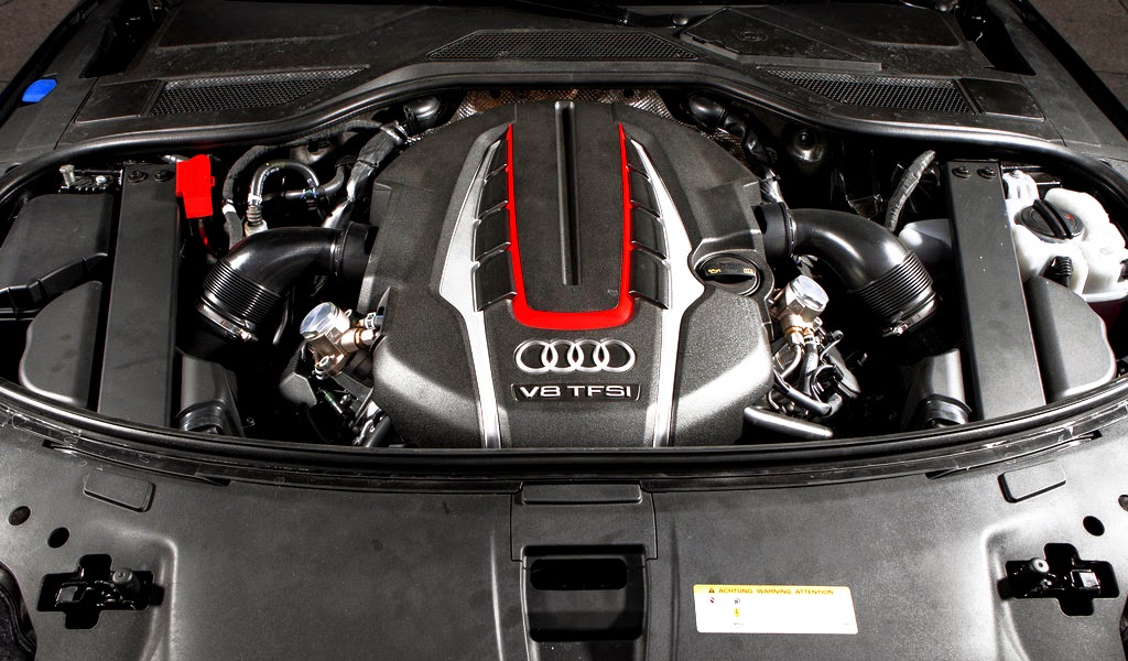 2014 Audi S8 Engine Wallpaper