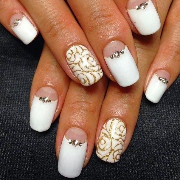 Свадебный шеллак для ногтей короткие