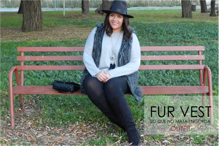 Outfit Fur Vest: lo que no mata engorda