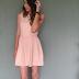 Meu look com vestido e sandália rasteira