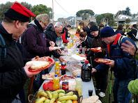 Esmorzant a Sant Julià d'Alfou