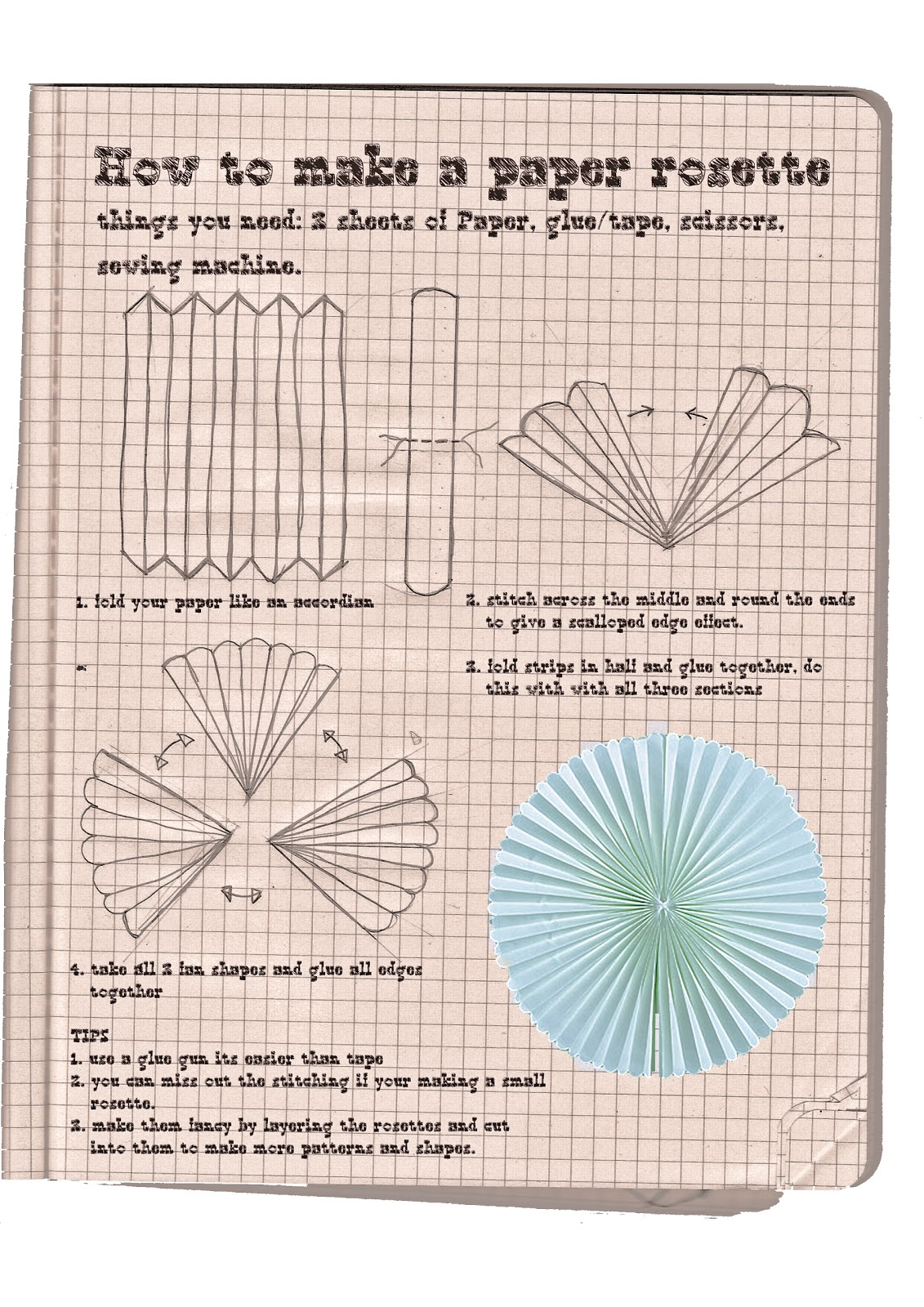 How to make rosettes out of paper - How To Make A Paper Rosette