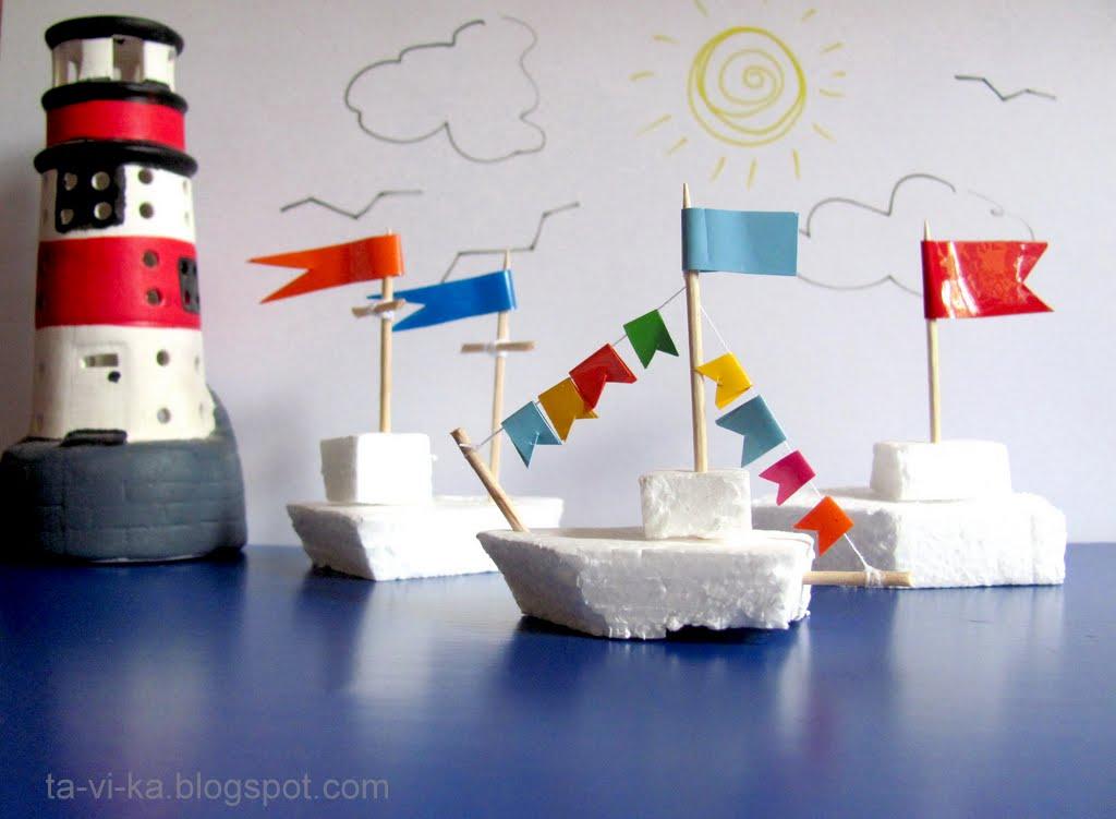 Корабль из пенопласта своими руками фото