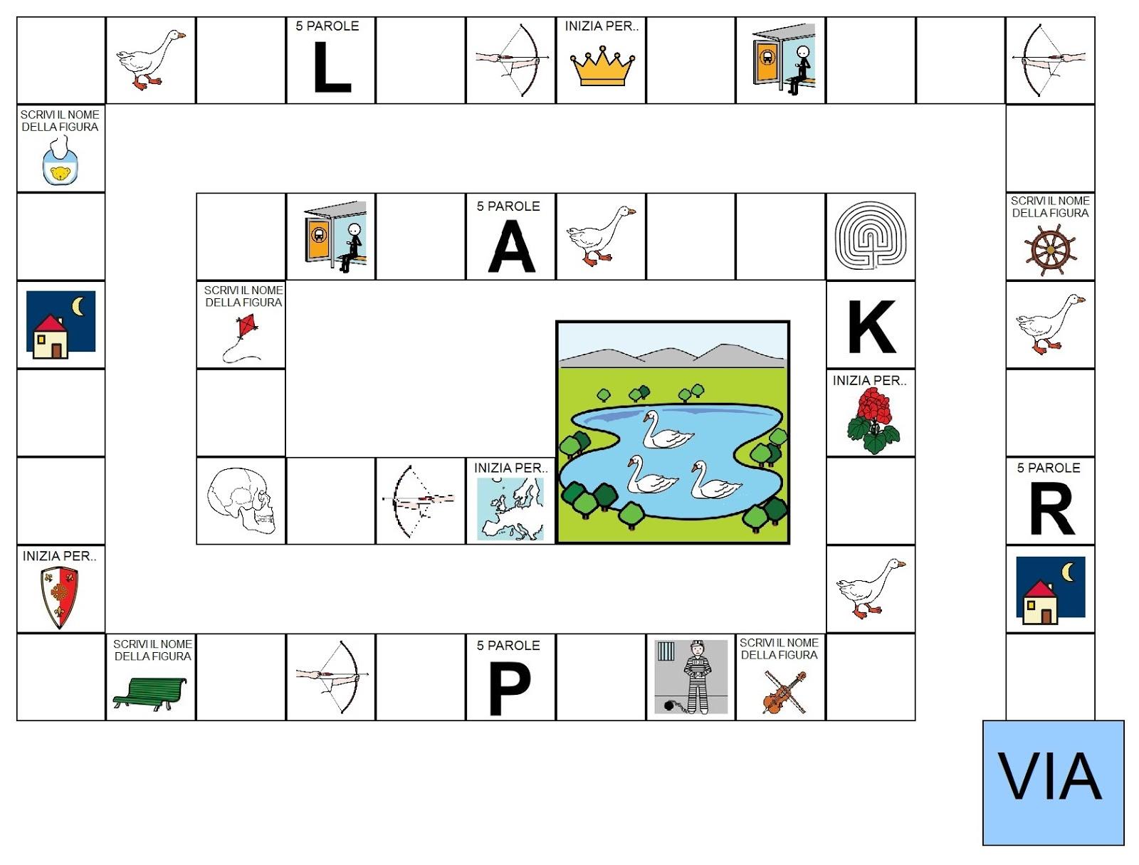 Comunicaazione gioco dell 39 oca delle parole for Gioco dell oca da stampare e colorare