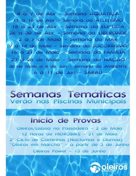 Olhar oleiros respons veis pelas piscinas em oleiros for Piscina municipal oleiros